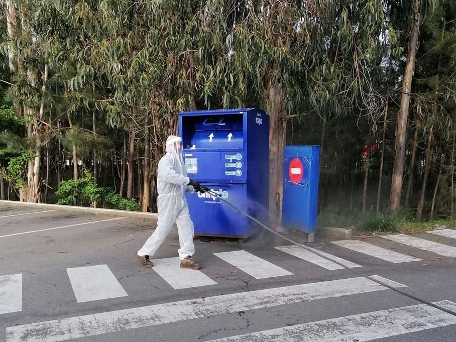 Junta de Freguesia promove desinfeção de espaços públicos em Água Longa